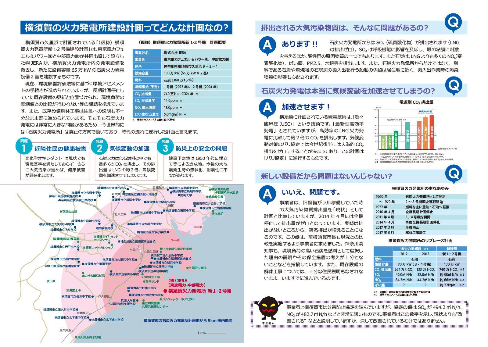 横須賀火力発電所建設計画問題パンフレット
